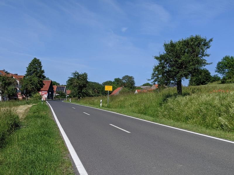Lindelbach Ortseingang und Siedlungsgebiet