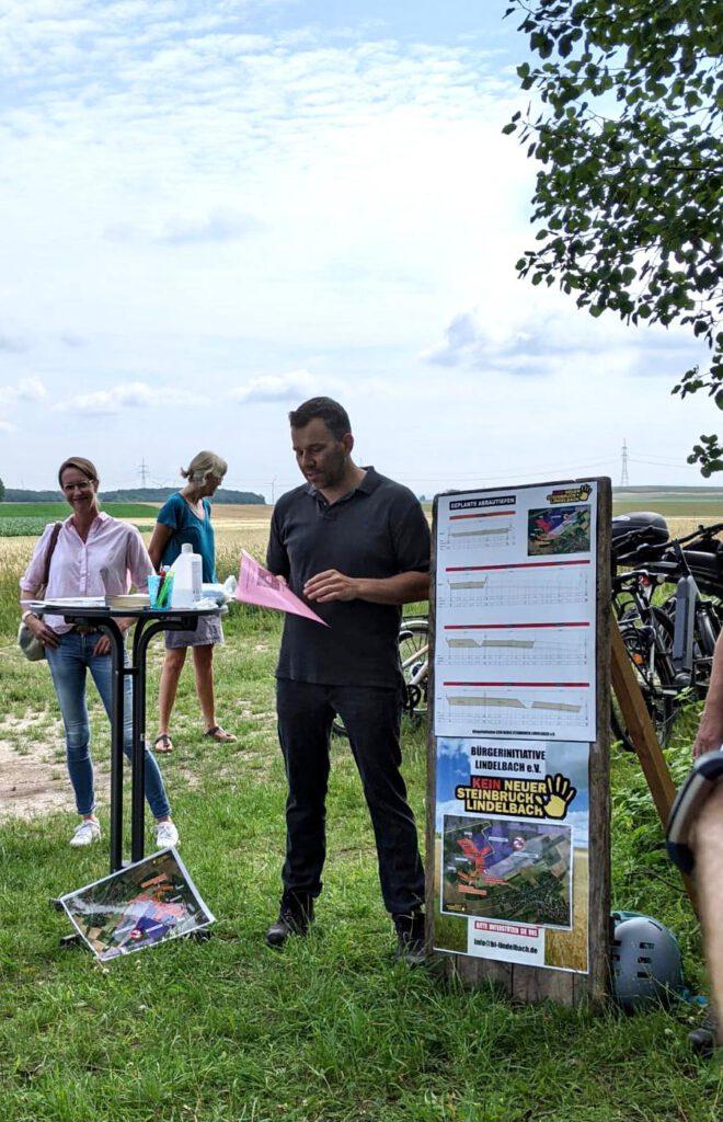 Info-Spaziergang Bürgerinitiative Lindelbach